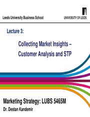 Lecture 3 - Customer Analysis and STP - 2019.pdf