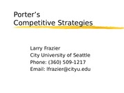 MBA 500.Porter Competitive Strategies PPT