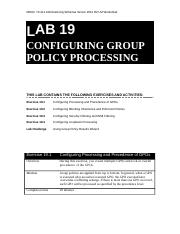Lab Worksheet Lesson 19 Configuring Group Policy Processing