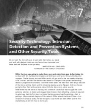 Security Technology Intrusion Detection and Prevention Systems and Other Security Tools