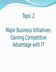 Topic 2 Major Business Initiatives.ppt