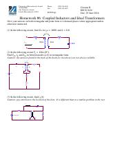Homework - 6 Coupled Inductors and Transformers