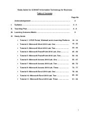 CCN1007 Study Guide 2014_15_S1