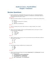 Chapter 8 Solutions doc - Guide to Linux Fourth Edition
