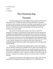 Christmas Day Tsunami