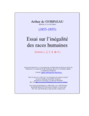 l'inegalite des race humaines