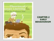 Chapter 2 Early Behaviorism