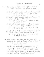 Chapter 2 and 4 Homework Solutions on Combinatorics