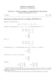 homework set 21-Solutions