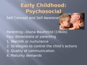 Early Childhood Psychosocial posted