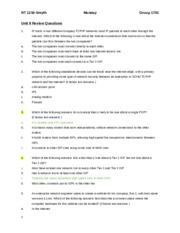 Unit 9 Assignment 1 Chapter review A