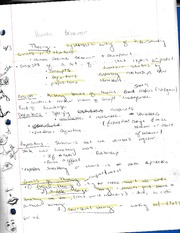 Notes on Theory of Human Behavior