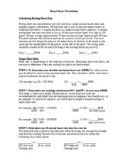 HeartRateWorksheet