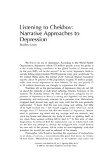 Lewis, B - Narrative Approaches to Depression, (2006) 25 Lit & Med 46