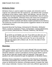 attribution theory research paper