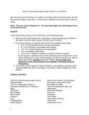 Chapter 3 Study Guide Western Cultures