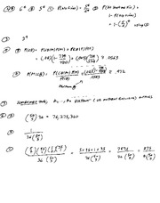 Solutions to Exam 1 (part 2), Ma441