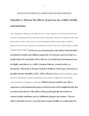 Effects of Poverty on a Child Health (revised)