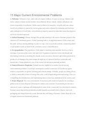 15 Major Current Environmental Problems.docx