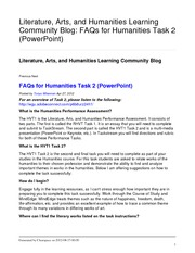 faqs-for-humanities-task-2-powerpoint