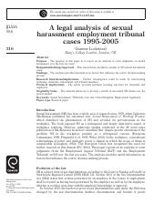 A legal analysis of sexual harassment employment tribunal cases 1995-2005.pdf