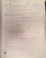 Algebra II Function Notation Notes and Examples