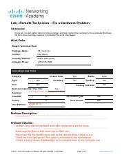 14.4.1.4 Lab - Remote Technician - Fix a Hardware Problem.pdf