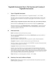 Negotiable Instruments Part I - BUL 3350.docx