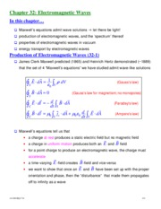 Physics II chapter 32 notes