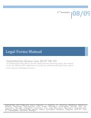 Ateneo Law Legal Forms Manual
