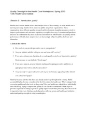 Quality Oversight in Health Care Marketing Notes 2