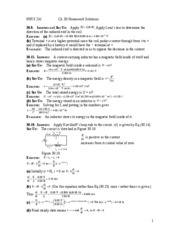 Chapter 30 HW Solutions