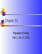 chapter 53 populations 2016part I