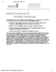 mineral reserves & mineral resources MIMOSA