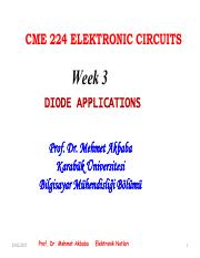 CME 224-WEEK 3 DIODE APPLICATIONS