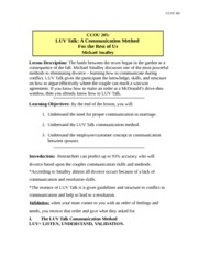 CCOU301_Notes205-LUV Talk- A Communication Method