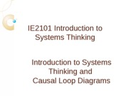 IE2101 Systems Thinking Handout