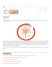 Creativity _ The Complete Leader.pdf