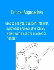 Critical Approaches to Literature2