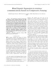 Blind Signals Separation in wireless communications based on Compressive Sensing  .pdf