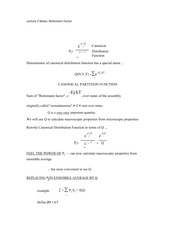 Lecture 3 Notes Boltzmann Factor