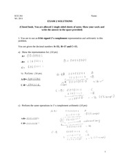 Exam2 Solutions Wi 11