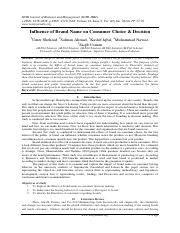 Influence of Brand Name on Consumer Choice & Decision.pdf