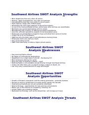 Southwest Airlines SWOT Analysis.docx