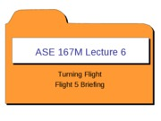 ASE 167M - Lecture 6