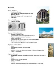 Roman notes for Test 3