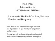L8 Ideal Gas Law Buoyancy