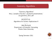 Study Guide on Computational Geometry Algorithms