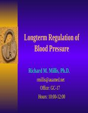 Longterm Regulation of Blood Pressure.ppt