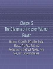 Chapter 5 The Dilemma of Inclusion without Power(1).ppt